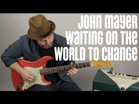 John Mayer Guitar Solo Lesson - Waiting On The World To Change - Major Pentatonic Techniques