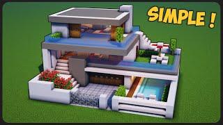 Download lagu Cara Membuat Rumah Modern Simple 3 Lantai ! || Minecraft Modern Pt.55