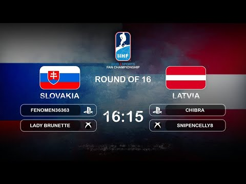 HIGHLIGHTS: SLOVAKIA Vs. LATVIA (16-15) Round-of-16 | 2020 IIHF Esports Fan Championship