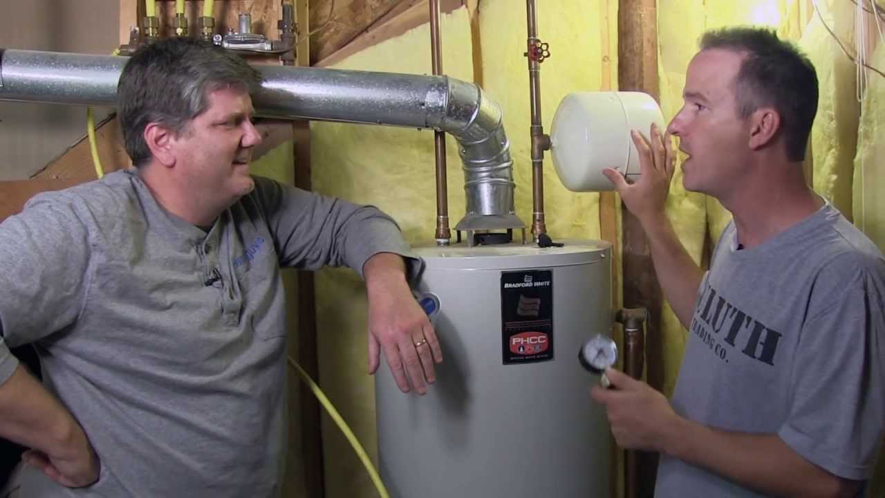 Water Heater And Expansion Tank Maintenence Youtube