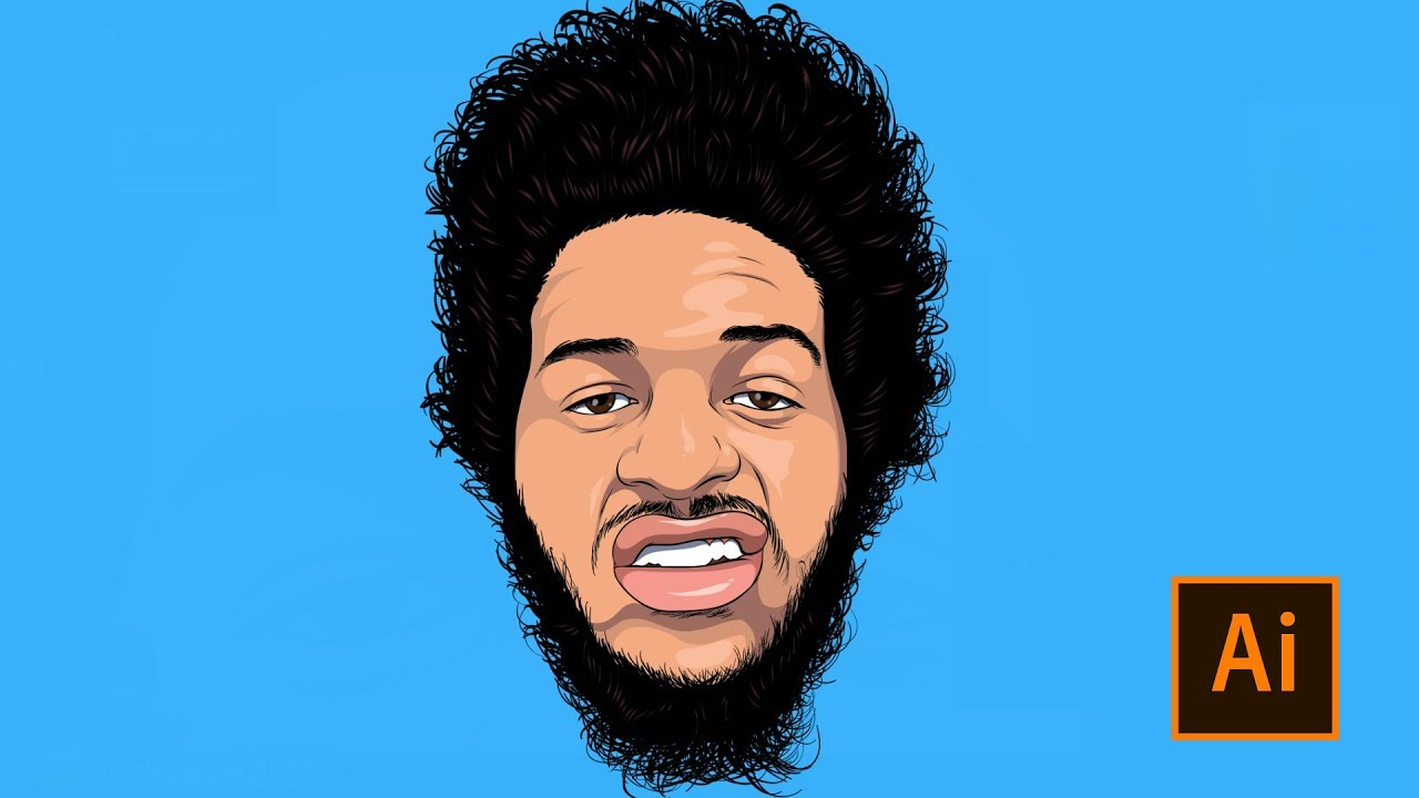 How To Cartoon Yourself Step By Step Full Video Tutorial Adobe Illustrator Youtube