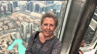 A view from the 124th floor of the Burj Khalifa in Dubai