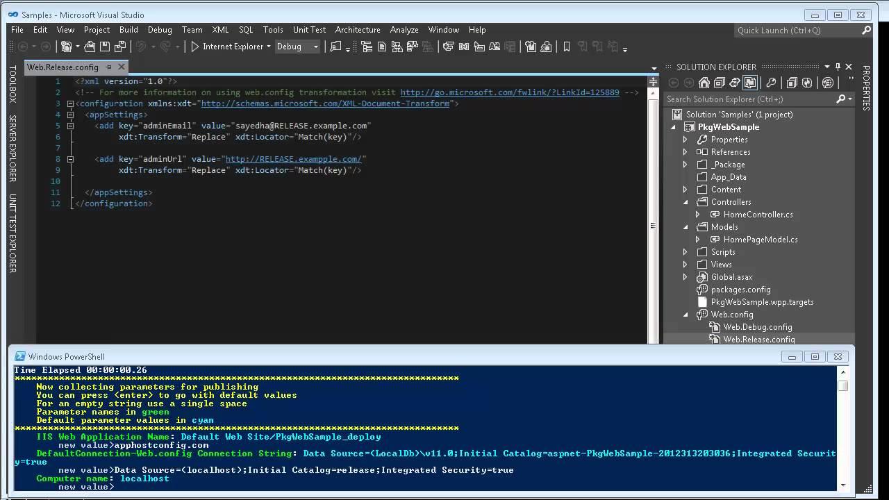 Sayed Ibrahim Hashimi - MSBuild, Web Deploy (MSDeploy), ASP NET