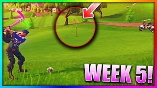 """""""Hit A Golf Ball From Tee To Green On Different Holes"""" ALL LOCATIONS! Fortnite Battle Royale"""