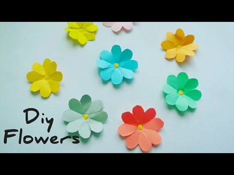 Easy paper flowers / How to make paper flowers /Paper craft by KovaiCraft