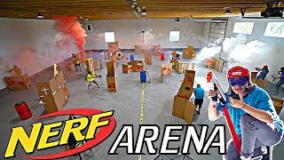 WE TURNED OUR WAREHOUSE INTO A NERF ARENA!