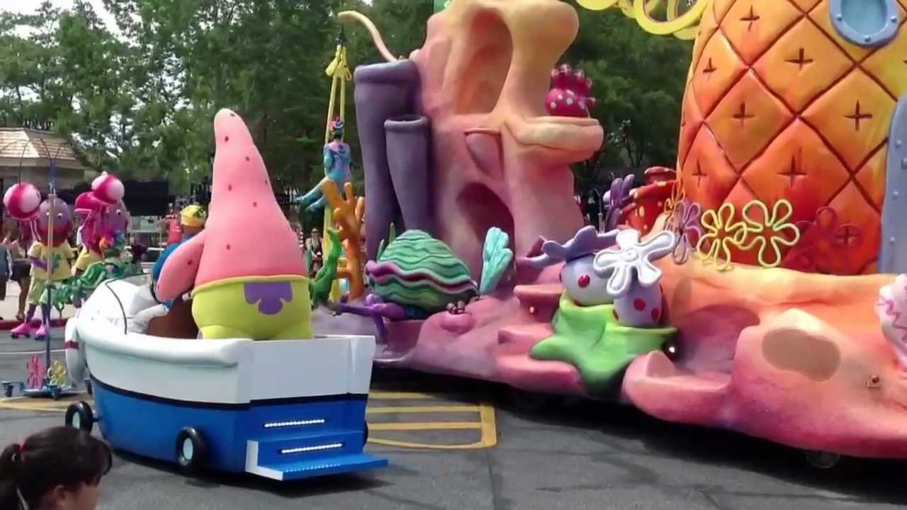 sponge bob square pants parade meet and greet youtube