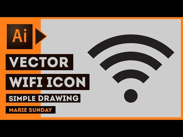 Learn How to Draw a Wifi Icon in Adobe Illustrator 2018