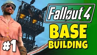 Fallout 4 - Building a Base 1 Fort Ginger Spoiler Free .