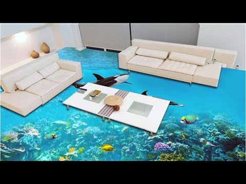 3d Flooring For Bathrooms Kitchens And Bedrooms Youtube