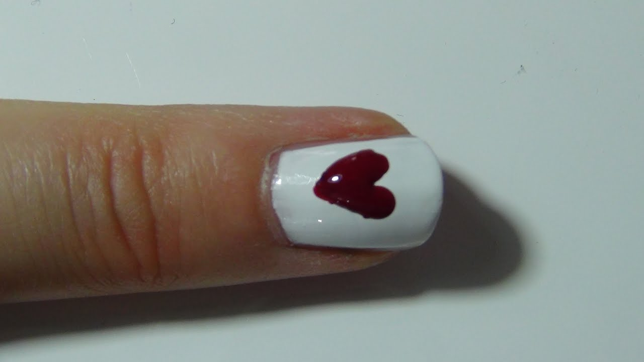 nail art n 12 comment faire des c urs sur ses ongles hearts on the nails youtube. Black Bedroom Furniture Sets. Home Design Ideas