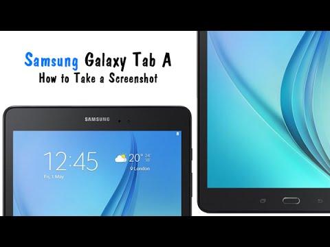 Samsung Galaxy Tab A How To Take Screenshot Youtube
