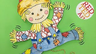 BONUS VIDEO - how to make a Scarecrow Paper Puppet with our free Sc...