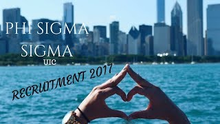 Phi Sigma Sigma at The University of Illinois at Chicago 2017 Recruitment Video