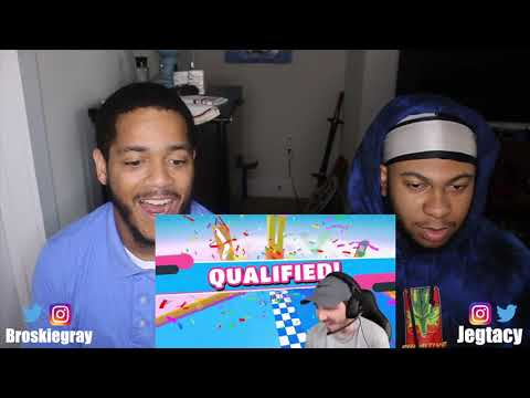 Mr. Beast Extreme $20,000 Fall Guys Challenge! | REACTION!