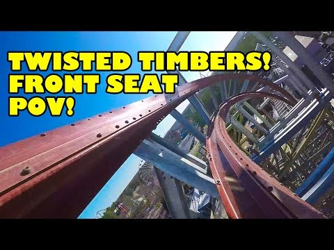 Twisted Timbers Roller Coaster Front Seat *REAL* POV Kings Dominion 2018 On-Ride streaming vf