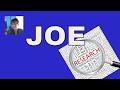 1st. Name Meaning : Names ~Joe ~Name 📊✔️