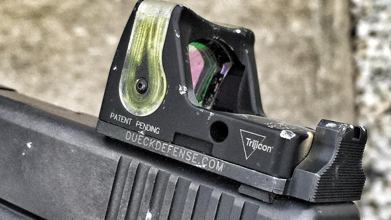 review dueck defense red dot back up sight base youtube