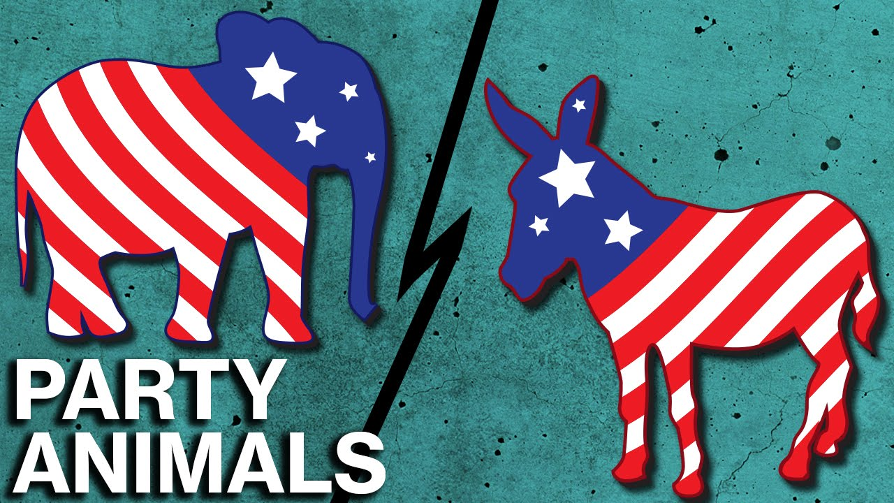 what s behind the gop elephant and democratic donkey youtube