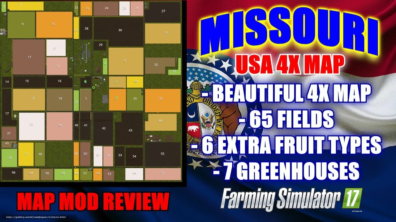 FS Missouri USA X Map Map Mod Review YouTube - Missouri in usa map