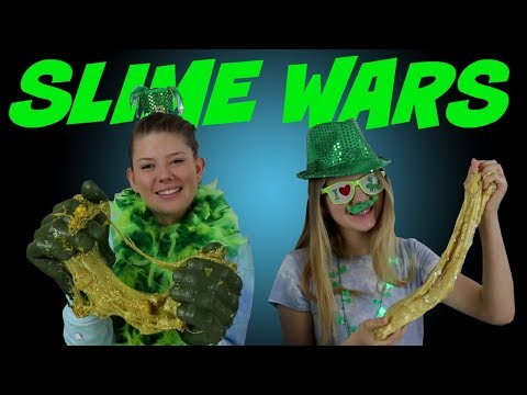 SLIME WARS || BOX OF LIES || ST PATRICK'S DAY || Taylor and Vanessa