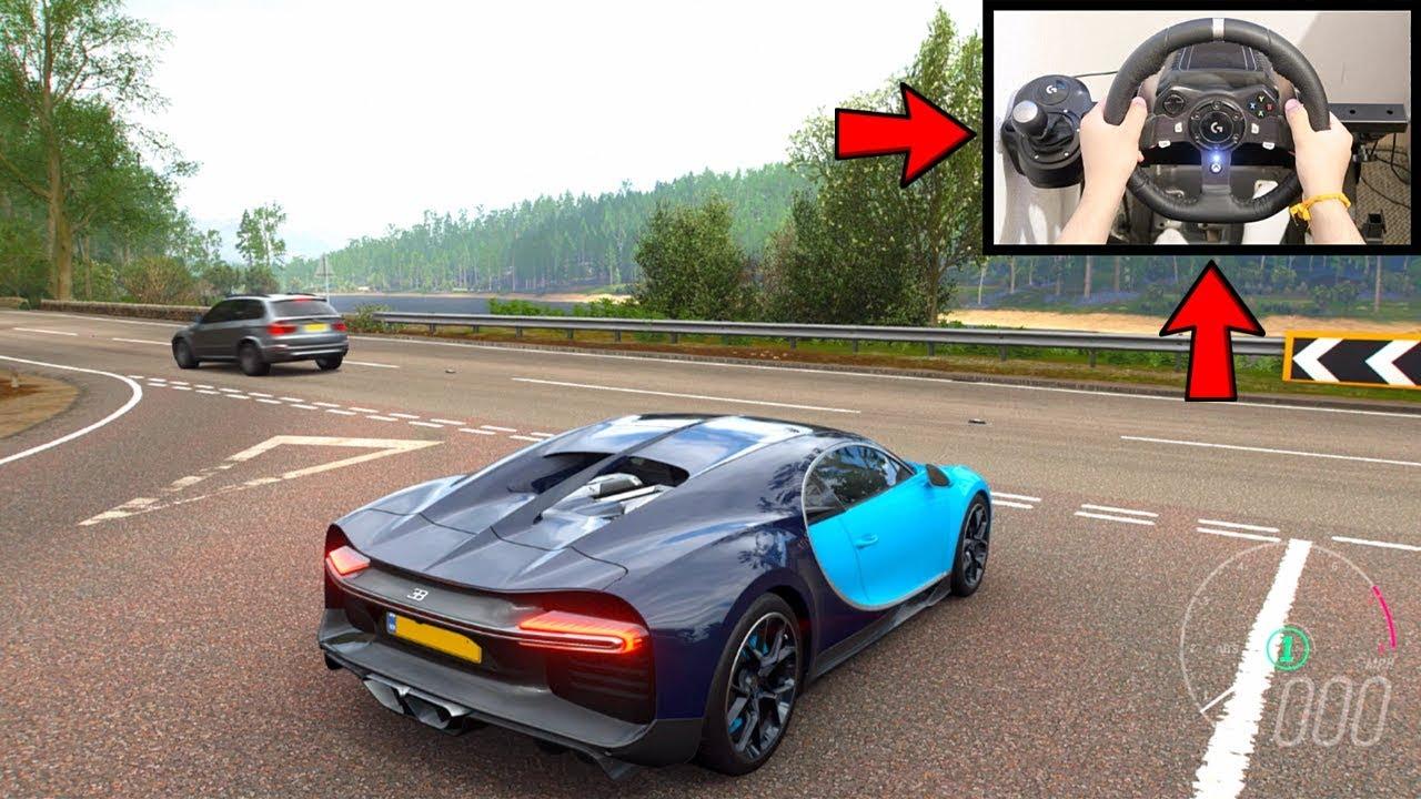 Forza Horizon 4 Bugatti Chiron (Logitech G920 Steering Wheel) Gameplay