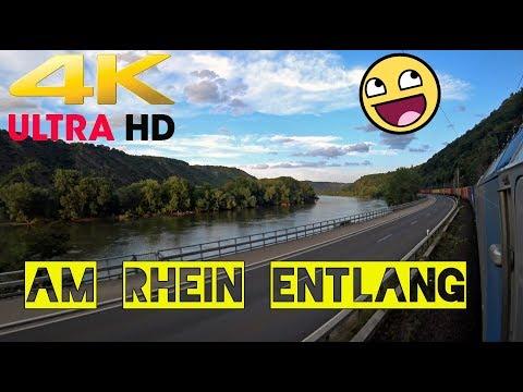 4K  Am Rhein Entlang.  Hammer Wetter ::::::) LA 14