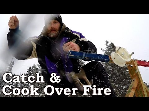 Catch n Cook TROUT IN THE SNOW!!! | Winter Ice Fishing | Far North CANADA!