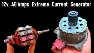 12v 40 Amps High Current DC Motor DC Generator ( 4 Brushed ) - Inside, Repair, Restore