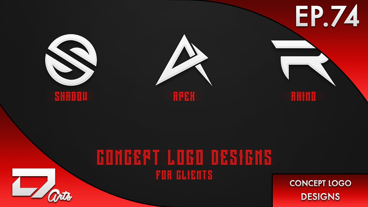 speed art ep74 concept logo designs for clients youtube