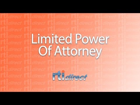 RTI Direct - Timeshare Transfers - Limited Power of Attorney