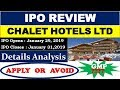 CHALET HOTELS LTD IPO || Detail Analysis Apply or Avoid || Chalet Hotel Limited IPO