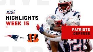 Pats Defense Dominates Bengals w/ 4 INTs | NFL 2019 Highlights