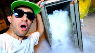 DRY ICE vs. ABANDONED SAFE!! (Incredible Science Experiment!)
