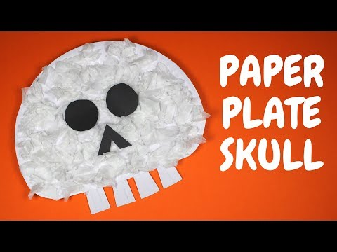 How to Make a Paper Plate Skull   Halloween Crafts for Toddlers