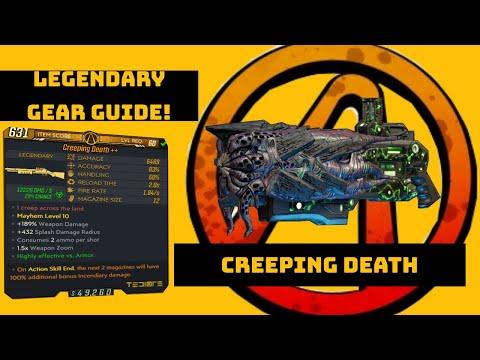 "Borderlands 3 ""Creeping Death"" Legendary Gear Guide!"