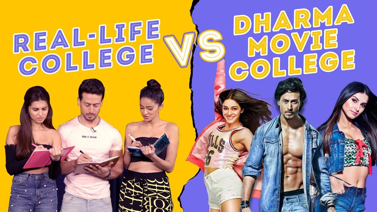 Download SOTY 2   Real College Life Vs Dharma Movie College Life Ft. Tiger Shroff, Ananya Panday & Tara