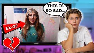 Reacting To My EX-GIRLFRIENDS New MUSIC VIDEO **EMOTIONAL** Gavin Magnus ft. Piper Rockelle