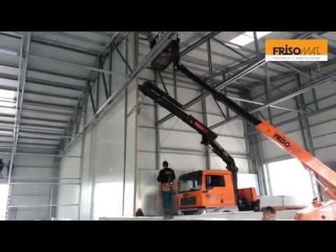 Installation of a FireWall in a Frisomat Industrial Building -  Frisomat Steel Construction Company