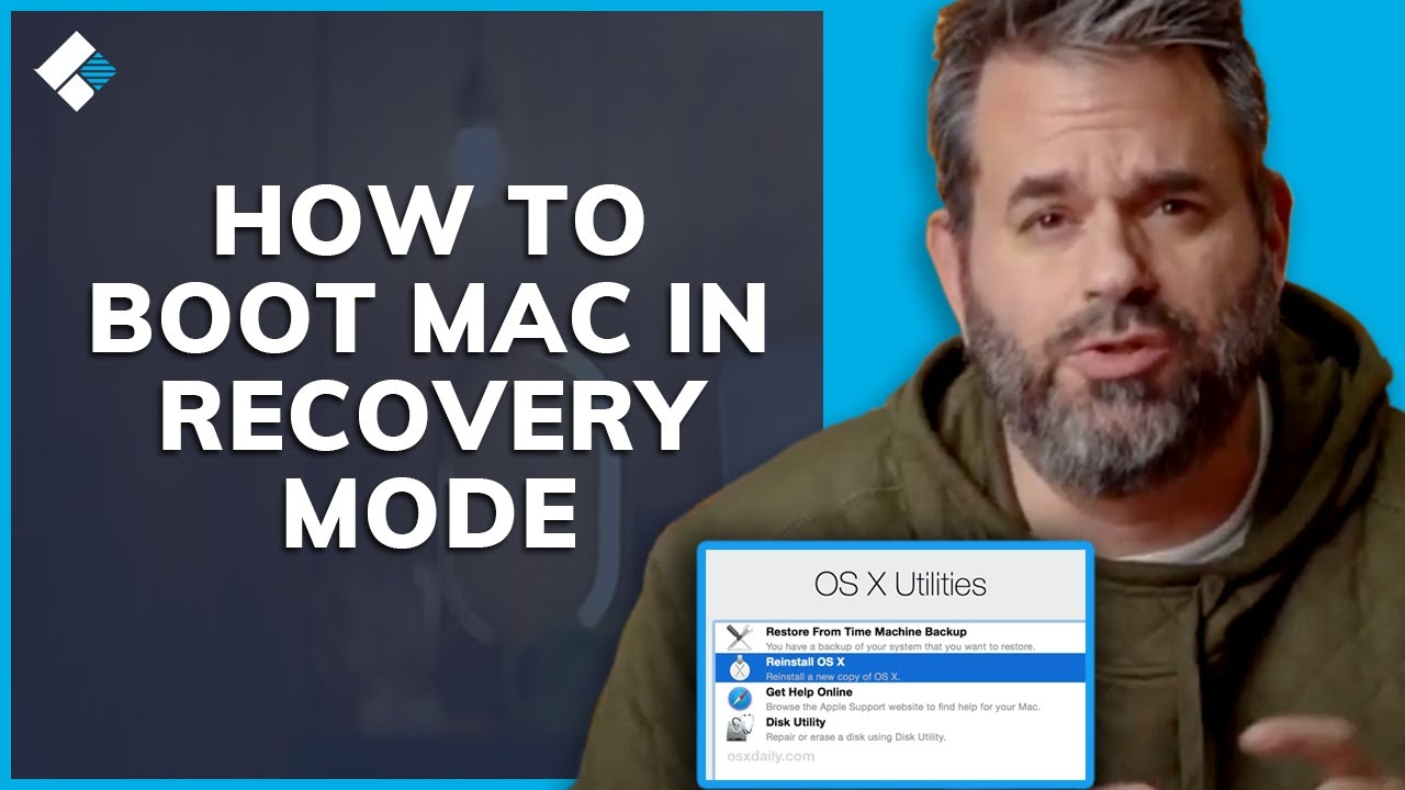Start mac in disk utility mode