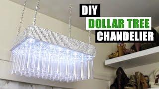 DIY DOLLAR TREE BLING CHANDELIER Dollar Store DIY Glam Chandelier DIY Glam Home Decor