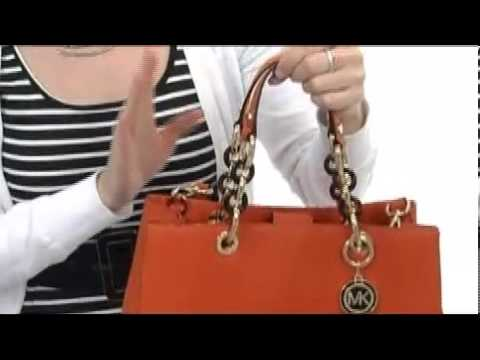 6048eb8fa781 MICHAEL Michael Kors Cynthia Medium Satchel SKU  8126368 - YouTube