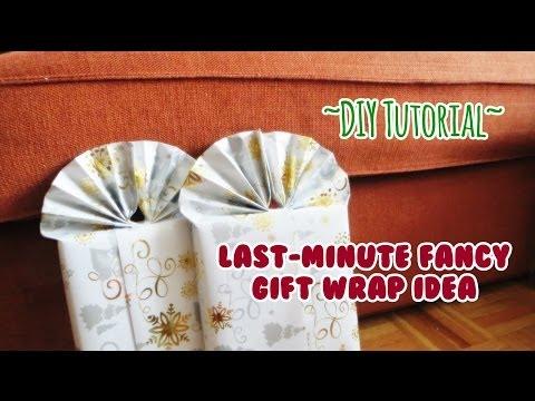 DIY Tutorial: Last-Minute Fancy Gift Wrap Idea!
