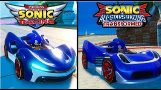Team Sonic Racing vs Sonic & All-Stars Racing Transformed - Graphics/Gameplay Comparison (60ᶠᵖˢ) ✔