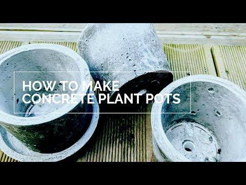 How to Make DIY Concrete Plant Pots