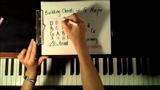 Key of G: How to Form and Play Chords on Piano for beginners (Piano Tutorial)