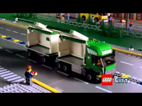 Cargo Plane 7734 Truck And Forklift 7733 Lego City Youtube
