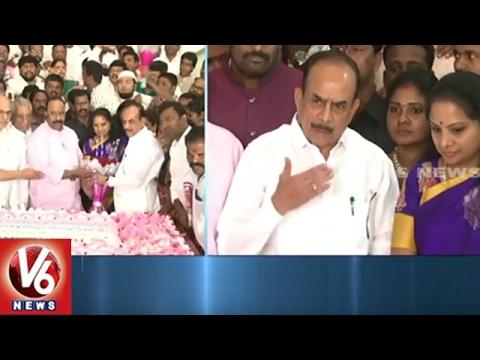 CM KCR Birthday Celebrations Across State | KCR Photo Exhibition In TRS Bhavan | V6 News