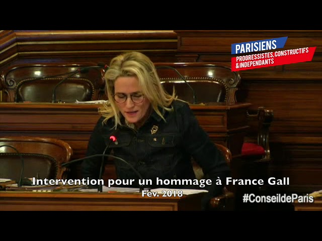INTERVENTION RENDRE HOMMAGE À FRANCE GALL