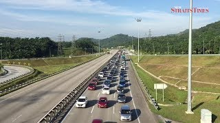 June 24, 10.30am: Traffic at a crawl along major highways